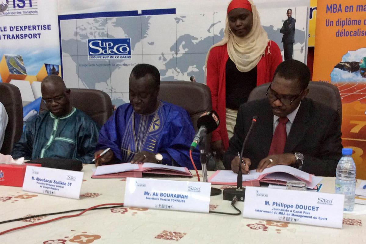 Convention de partenariat entre la CONFEJES et le Groupe Sup de Co Dakar
