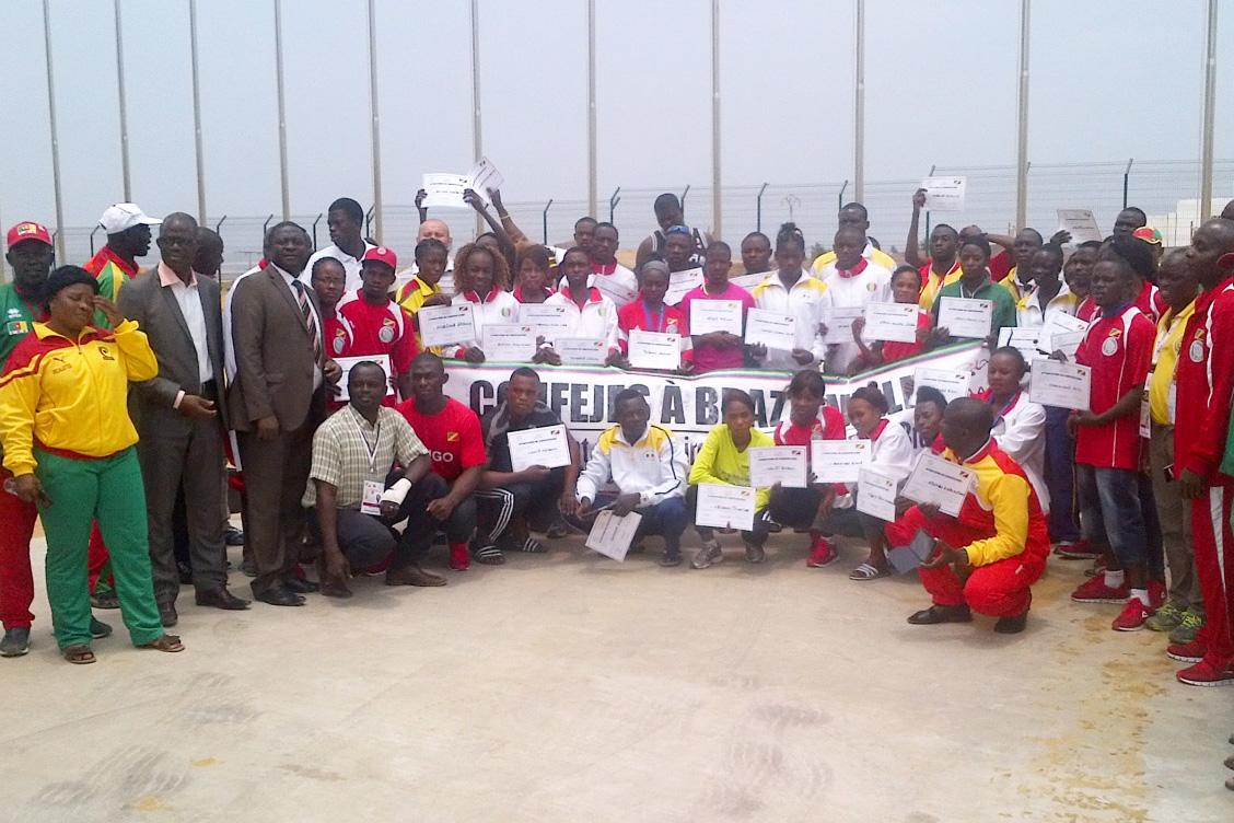 Cérémonie de clôture du camp d'entraînement CONFEJES à Brazzaville