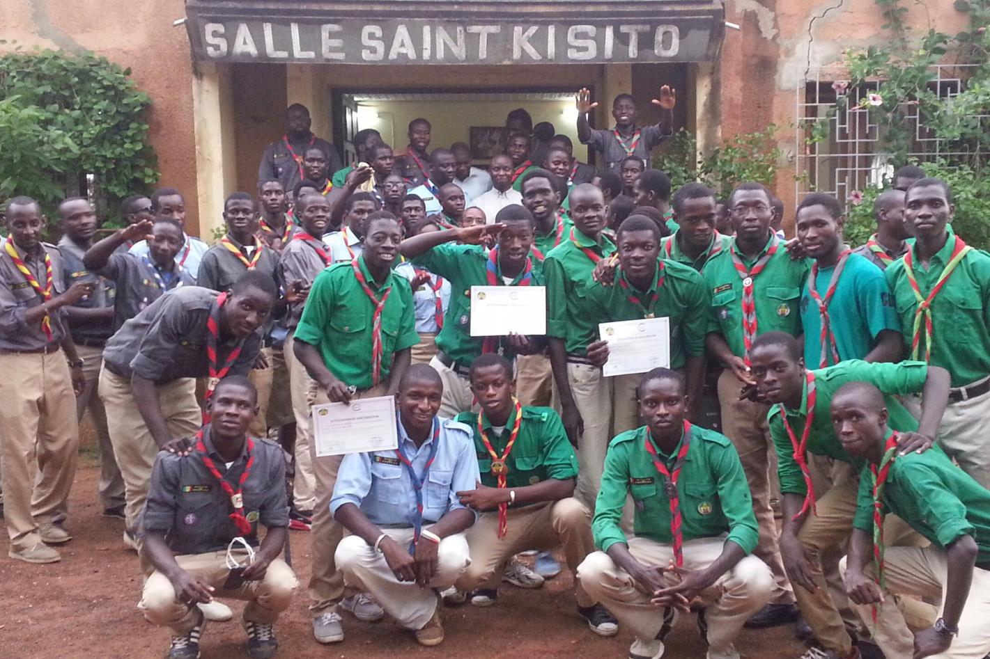 Cérémonie de remise d'attestations aux scouts du Sénégal