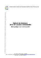 34eme-session-ministerielle-de-la-confejes-niamey-mars-2013-releve-de-decisions